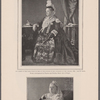 The Queen in the dress worn by her at the jubilee of her accession to the throne, 1887. Age 68 years. From a photograph by Hughes and Mullins, Ryde, Isle of Wight.  The Queen as she appeared at the time of the marriage of the Duke of York, July 26, 1893. Age 74 years. From a photograph by Hughes and Mullins, Ryde, Isle of Wight.