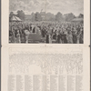 """""""Her Majesty's Jubilee Garden Party."""" from the picture by Mr. F. Sargent. [Reprinted from the """"Pall Mall Budget"""" of July 17, 1890.] Key plan to the picure."""