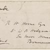 Froude, James Anthony, inscription to, by HDT. Undated.