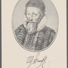 W. Waad [signature]. Portrait and facsimile autograph of Sir William Waad, Knight.