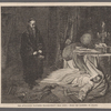 Theastrologer watching Wallenstein's dead body.--From the painting by Piloty.