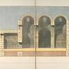 Querschnitt des Hauptraumes und ersten Nebenraumes. Ansicht gegen Süd.