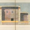 Längsschnitt des Hauptraumes und der östlichen Seitenkammer. Ansicht gegen Ost.