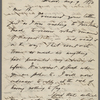 B[lake, Harrison G. O.], letter to, copy in the hand of Ralph Waldo Emerson. Aug. 9, 1850.