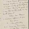Cholmondeley, Thomas, ALS to HDT. Oct. 3, [1855].