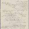 Johnson, L., & Co., ALS to John Thoreau. May 27, 1856.
