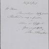 Knight, Silas P., ALS to John Thoreau. Jul. 9, [n.y.].
