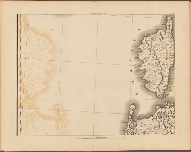 This is What Captain Chauchard and Plate XVII: A general map of the empire of Germany Holland the Netherlands Switzerland the Grisons Italy Sicily Corsica and Sardinia Looked Like  on 6/4/1800