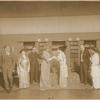 Philip Merivale, Mrs. Edmund Gurney, Moira Greegan, Mrs. Patrick Campbell, Algernon Greig, and Olive Wilmot Davies in the stage production Pygmalion.