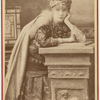 Publicity photograph of Sarah Bernhardt in costume for role of Adrienne Lecouvreur.