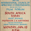 Film Forum: South Africa Today