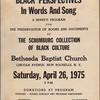 Black Perspectives in Words and Song