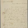 Letter from Benjamin Shultz