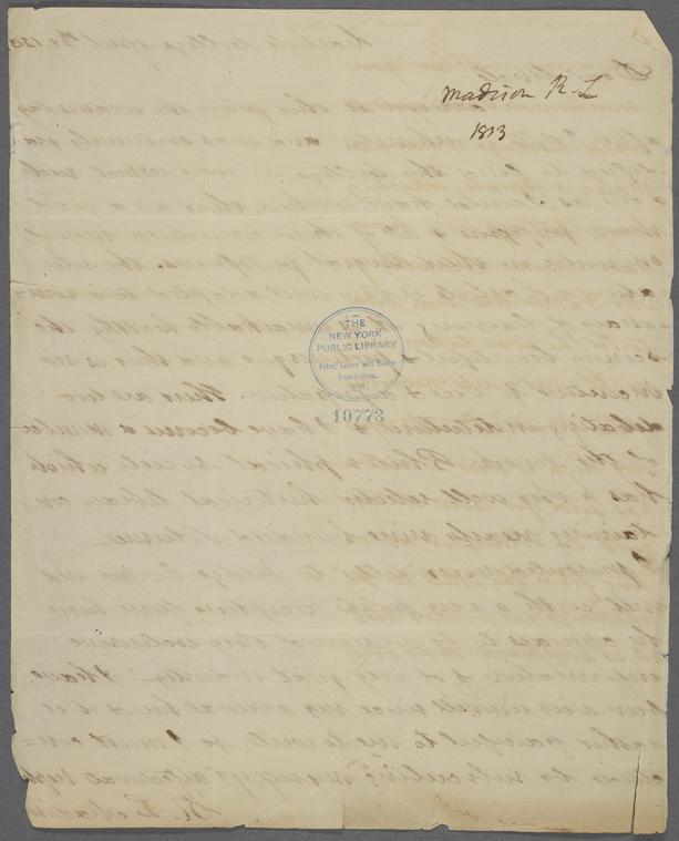 on 4/22/1813