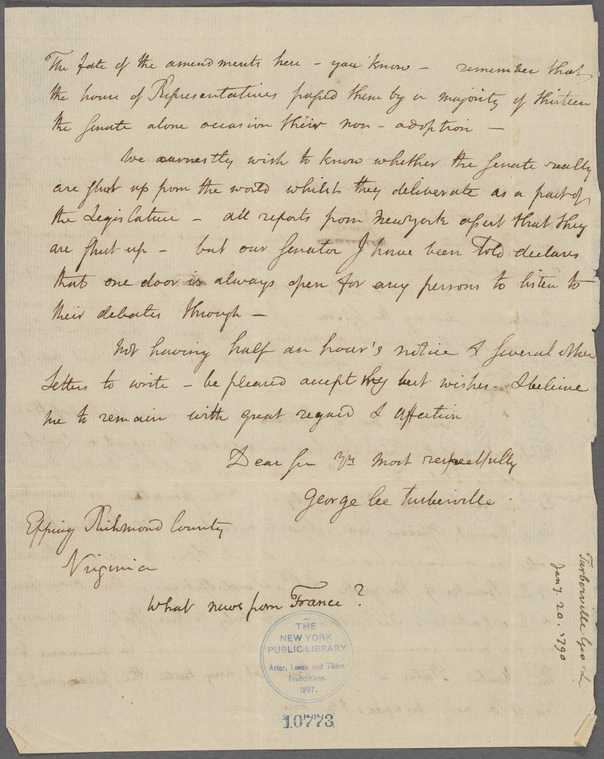 on 1/20/1790