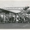 Members of Ballet Theatre grouped in front of an airplane, no. 52
