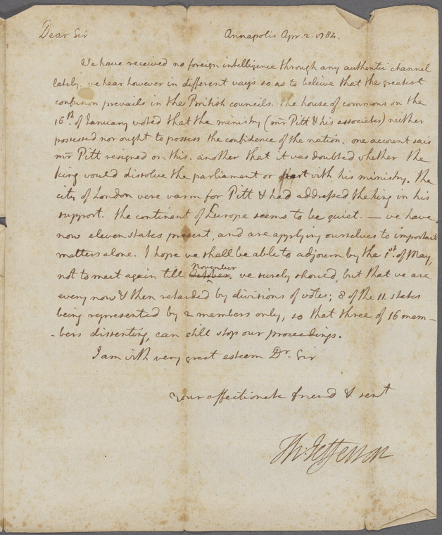 on 4/2/1784