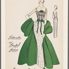 Brocade dress with beaded bodice