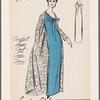 Crochet lace coat and crepe dress