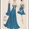 Chiffon dresses with beading