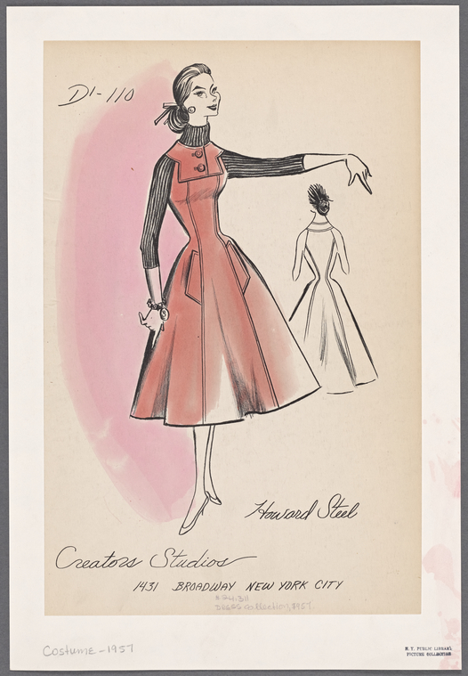 Browse More Than 1,000 Original Sketches Of Mid-Century Fashion | Co.Design | business + design