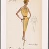 Yellow bib collar dress