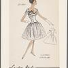 Dress with lowered waistline
