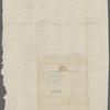 Undated correspondence