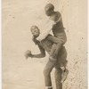 Publicity photograph of vaudeville comedy duo Miller and Lyles, performing their prizefighting routine, circa 1910
