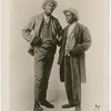 Full-length publicity photograph of vaudeville comedy duo Miller and Lyles, conversing in an unidentified comedy routine, between 1909 and 1928