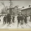 [Children skiing in Petrovsk- Razumovsk (Moscow)