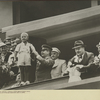 """Stalin and Molotov receiving flowers at """"Dynamo"""" Stadium"""