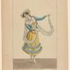 Femme espagnole dansant la quarache, dans la Muette de Portici. Opéra, Académie Royale de Musique. Ballet du premier acte.