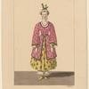 Costume de Mme. Laurent, rôle de la Fiancée, dans Chao-King. Ballet: [Etching by] Maleuvre, s
