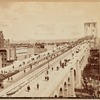 New York Approach to the Brooklyn Bridge; Columbia Bicycle; Schmolze Bros & Hildenbrand Lithographers