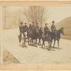 Equestrians on Riverside Drive