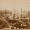 Brooklyn Bridge; sailing ships