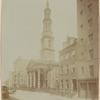 St John's Chapel & Rectory; horses & wagons