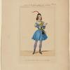 Costume de Melle. Pauline Leroux, rôle d'Uriele, dans Le diable amoureux, ballet, Académie royale de musique
