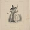 Melle. Pauline Leroux et Mr. Elie, dans la scène de séduction (3eme. Acte) du Diable amoureux