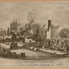 Fire on Fulton Street in 1850