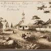 Second Breukeler Church & Deberrin House, Fulton St. 1766