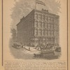 The above cut represents the structure at the Southwest corner of Smith and Fulton Streets, Brooklyn...