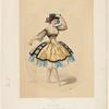 Théâtre de la Opera Porte St. Martin. Mme. Honoré dans le ballet de la Moresque. [Lithograph by Alexandre Lacauchie].