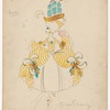 Costume design for La Duchesse de Barbezieux