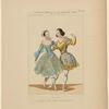 Costumes de Petipas et de Mme Carlotta Grisi dans La favorite, opéra, Académie Royale de Musique.