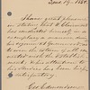 Autograph letter from George Edmondson regarding Wilhelm Clairmont