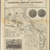 Map of the centennial grounds and vicinity, Philadelphia: showing the approaches by steam and street railways