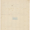 Draft of a letter to an unidentified party