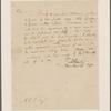 Letter to Abraham Van Vechten